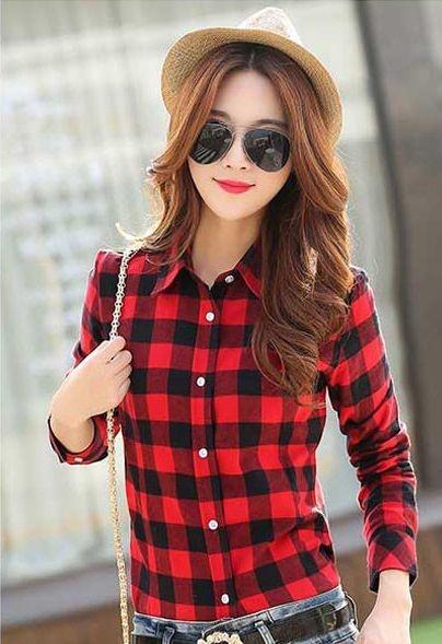 Camisa Flanelada Xadrez Vermelha