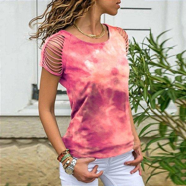 Blusa Tie Dye com Recortes - 6 cores