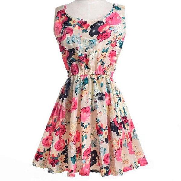 Vestido Floral Rodadinho - 2 cores