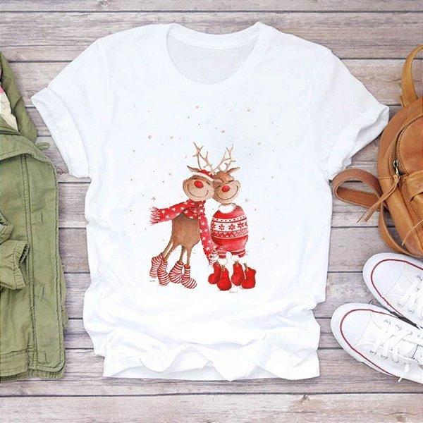 T-shirt Estampas Natal - 5 cores
