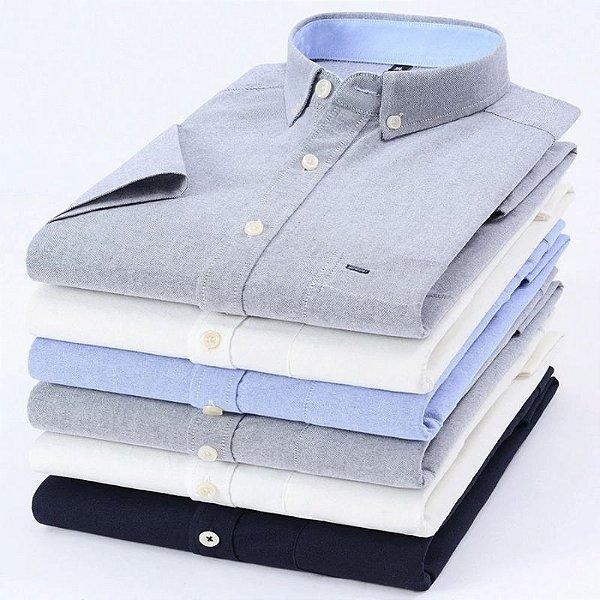 Camisa Social Oxford - 4 cores