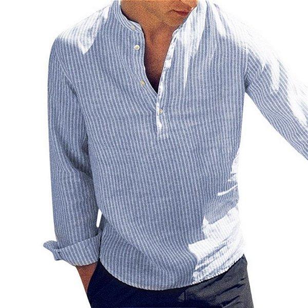 Camisa Casual Listrada - 3 cores