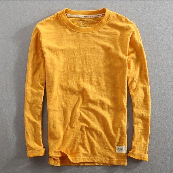 Camiseta Manga Longa Básica - 5 cores