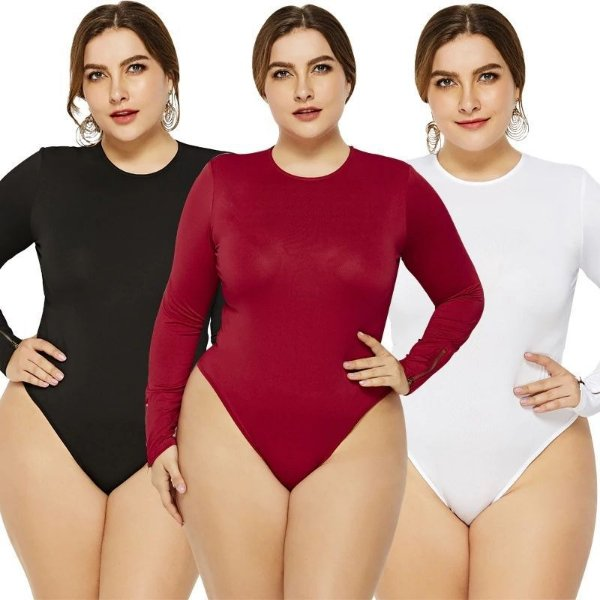 Body Liso Plus Size - 3 cores