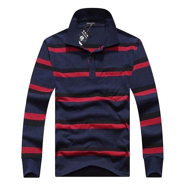 Camiseta Polo Listras - 6 cores