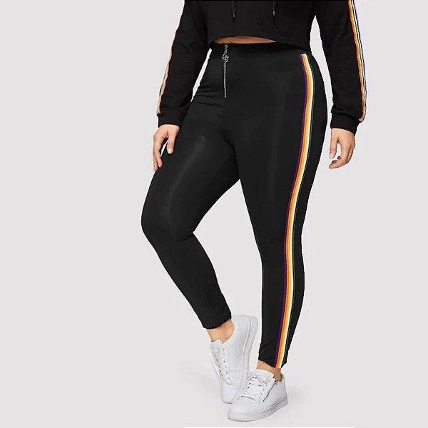 Calça Color Stripes Plus Size