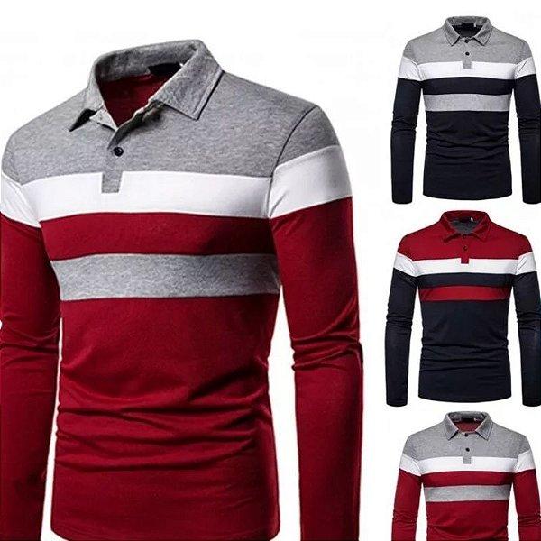 Camiseta Polo Stripe - 3 cores