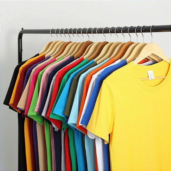 Camiseta Básica Algodão - 9 cores