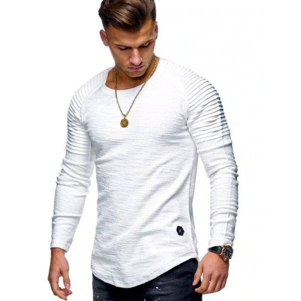 Camiseta Manga Longa Slim - 4 cores