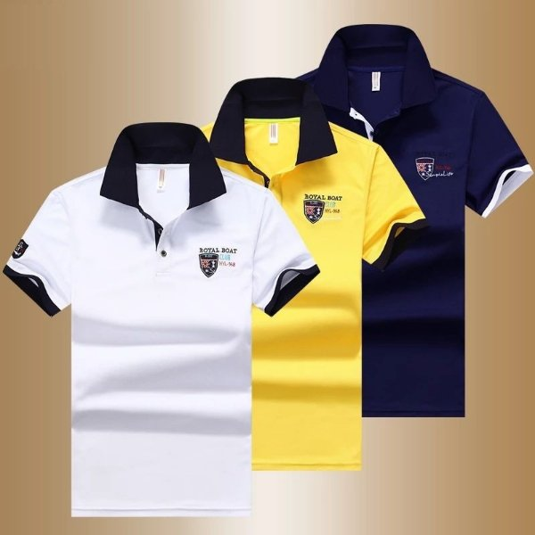 Camiseta Polo Royal - 3 cores