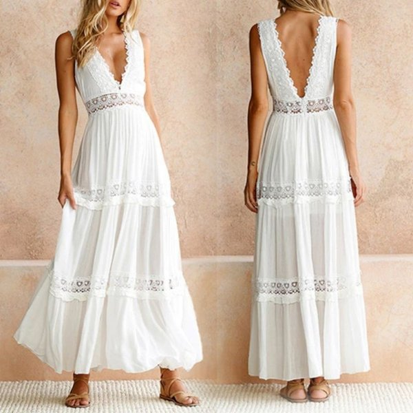 Vestido White Decotado
