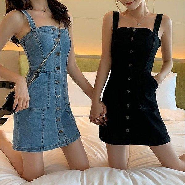 Vestido Jeans Tubinho - 2 cores