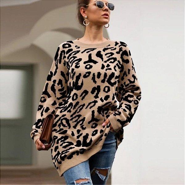 Suéter Oversized Leopard - 4 cores