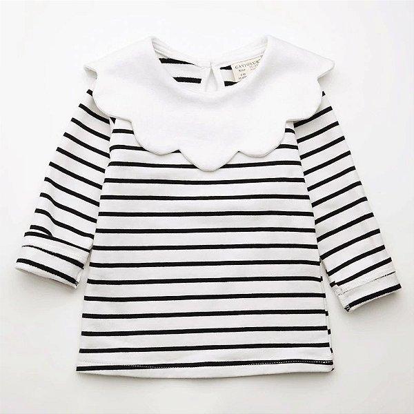 Blusa Listras Black & White
