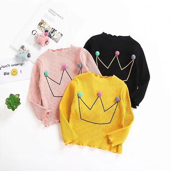 Blusa Coroa Princess - 3 cores