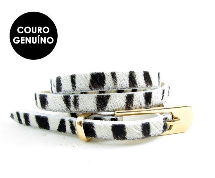 Cinto Fino Estampa Zebra