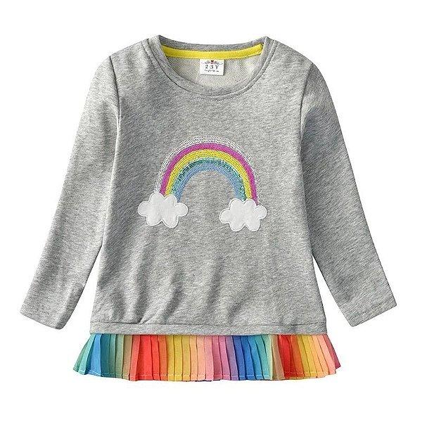 Blusa Rainbow Manga Longa