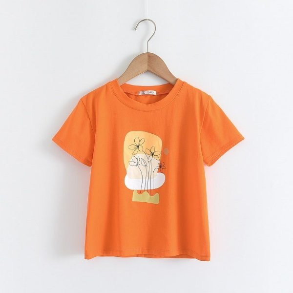 Blusa Flores Orange
