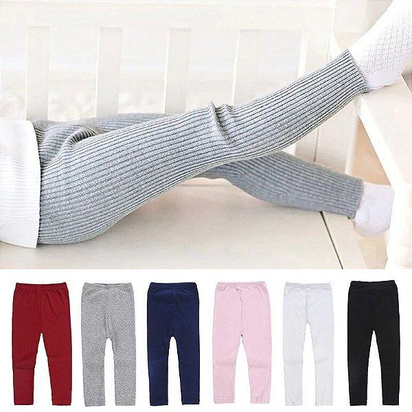 Calça Legging Algodão Kids - 6 cores