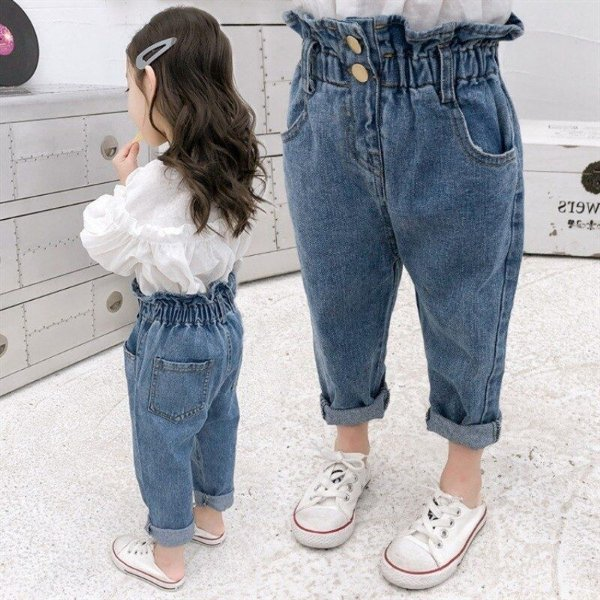 Calça Jeans Mom Infantil