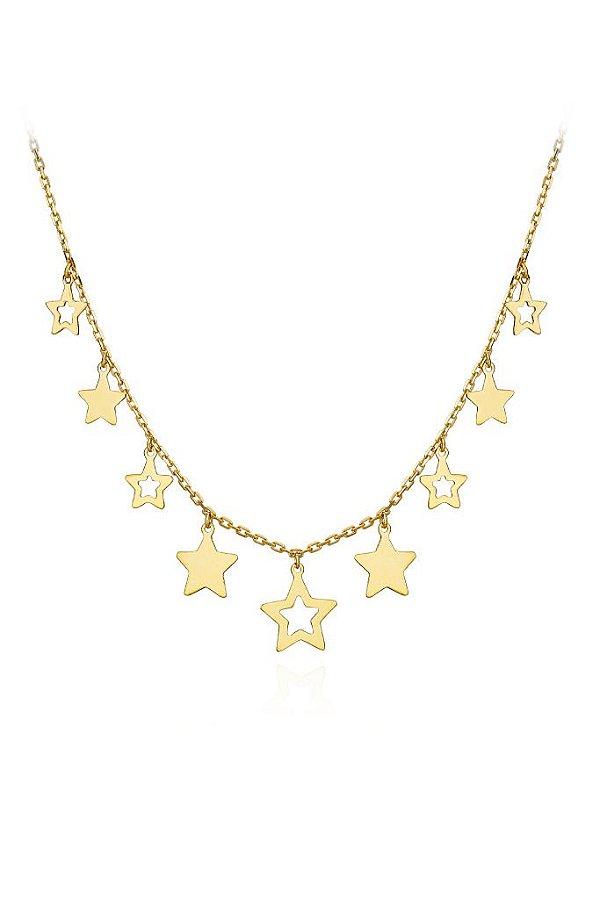 Colar estrelas em Ouro amarelo 18K (ref A7.243.72)