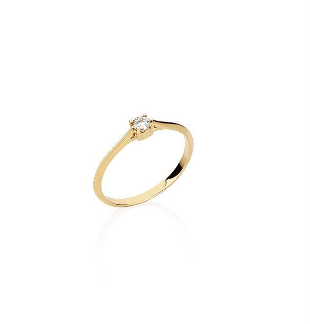 Anel em Ouro amarelo com Diamante de 15 pontos (ref 2ANAB806515)