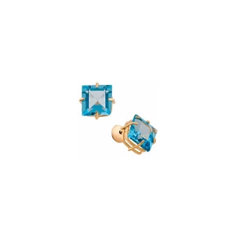 Brincos coleção Rainbow Topázio azul