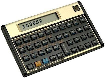 Calculadora Financeira HP 12c com 120 Funções - Preta/Dourada