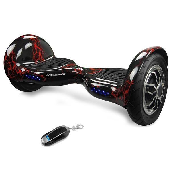 Scooter Powerpack SCOT-010 10'' Bluetooth/Bateria LG - Preto e Vermelho