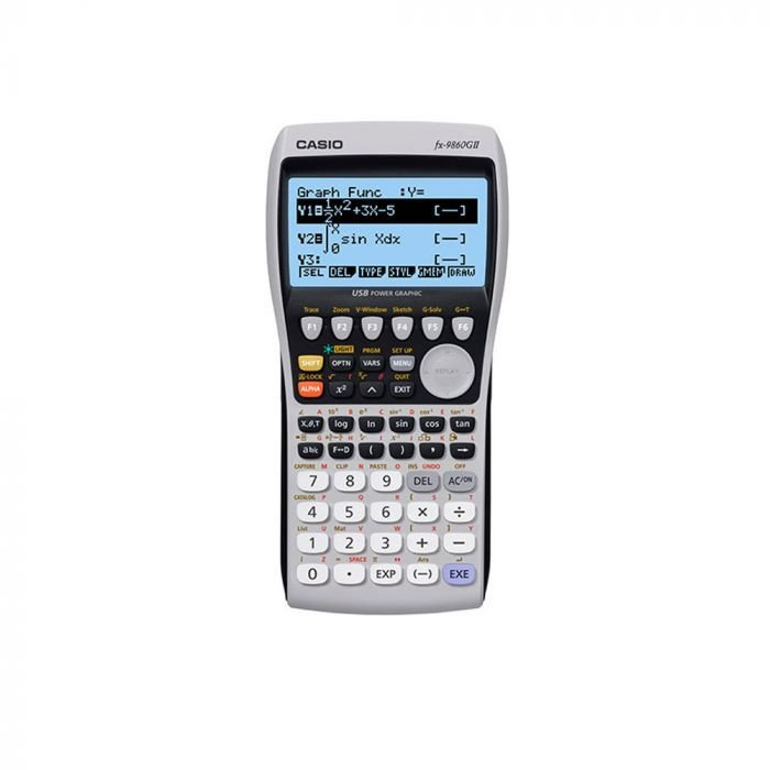 Calculadora Gráfica Casio FX-9860GII - 2900 Funções