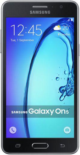 """Samsung Galaxy ON5 - 5.0"""" - Dual SIM - 8GB - 4G LTE - Espanhol - Preto"""
