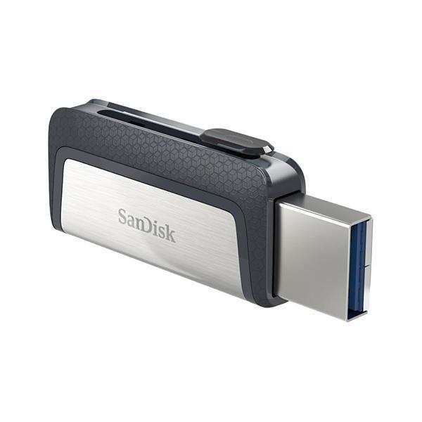 Pen drive SanDisk Ultra Dual Drive SDDDC2-016G-G46 USB/USB-C de 16GB - Preto/Cinza