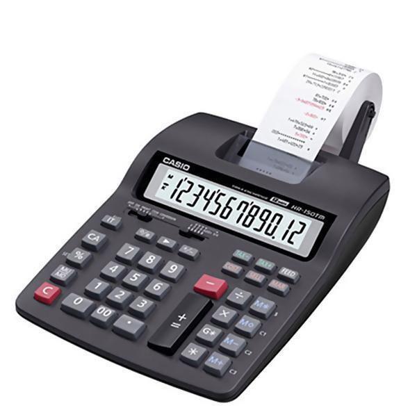 Calculadora com Impressora Casio HR-100TM com Cálculo de Juros - Preta