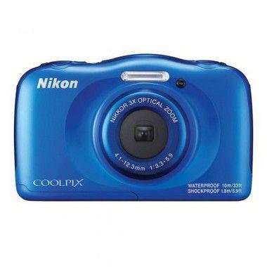 "Câmera Nikon Coolpix W100 Wi Fi/Bluetooth/NFC de 13.2MP Lente NiNIKKOR LCD 2.7"""