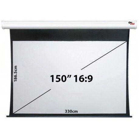 """Tela de Projeção Onled Elétrica de 150"""" - 16:9 (220V-50Hz)"""
