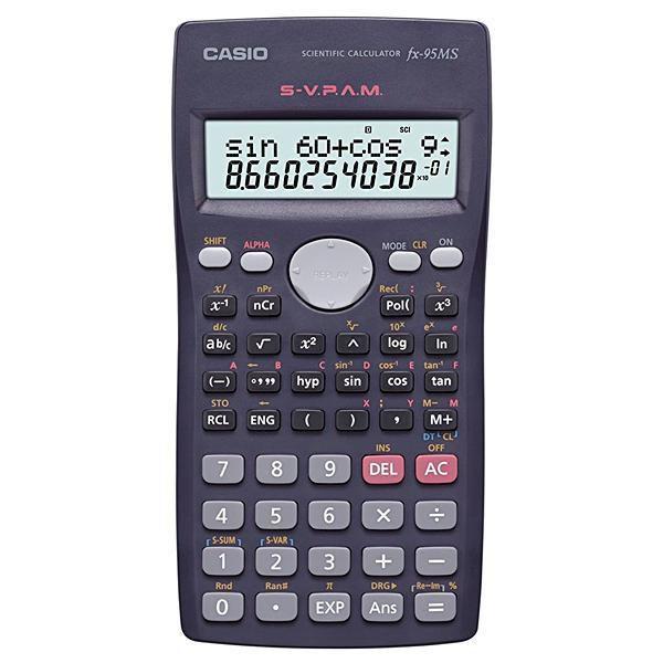 Calculadora Científica Casio FX-95MS com 244 Funções - Preto