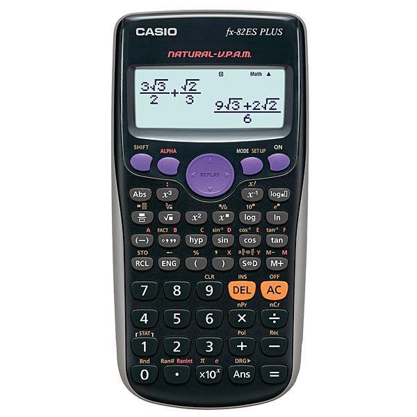 Calculadora Científica Casio FX-82ES Plus BK com 252 Funções - Cinza/Preta