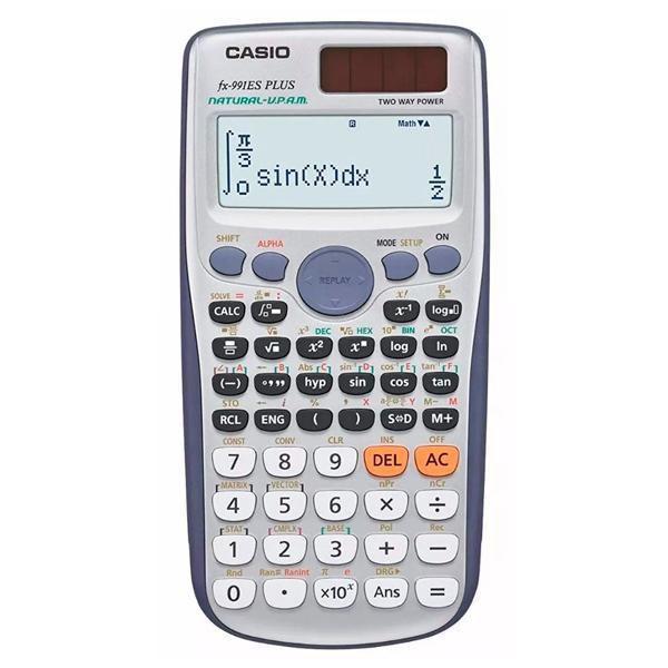 Calculadora Científica Casio FX-991ES Plus com 417 Funções - Branca/Azul