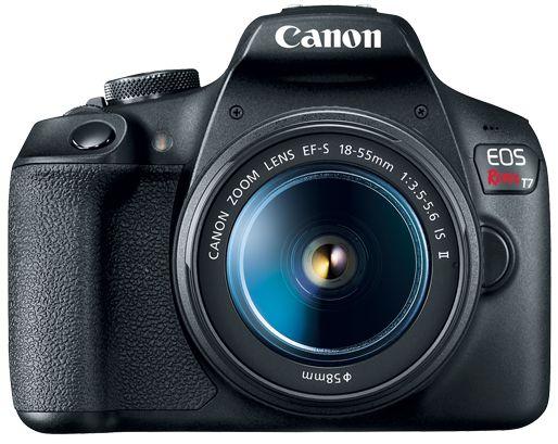 Câmera Canon T7 Lente 18-55mm – Preto