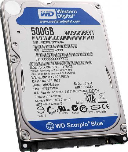 """HD Notebook Western Digital 500GB 2.5"""""""