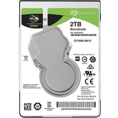 """HD Notebook Seagate Barracuda ST2000LM015 2.0TB 2.5"""" 5400RPM 128MB"""