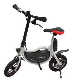 """Bicicleta Elétrica Foston P12 com Rodas de 12"""" (Branca, Preta,Vermelha)"""