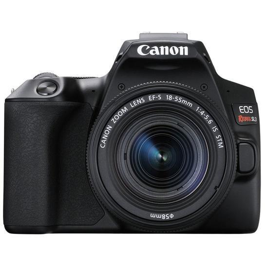 "Câmera Digital Canon EOS Rebel SL3 24.1MP 3.0"" EF-S 18-55MM IS STM"