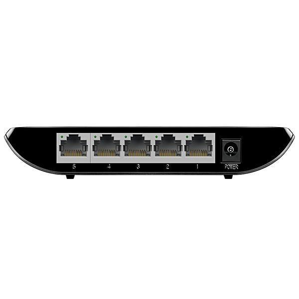 Switch TP-Link TL-SG1005D 10/100/1000 MBPS com 5 Portas RJ45 - Preto