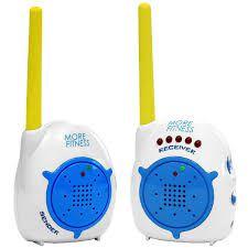Babá Eletrônica More Fitness MF-863 2 Canais - Branca/Azul