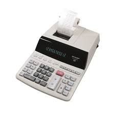 Calculadora Sharp EL-2607PG-GY - com Bobina - 12 Digitos - Branco