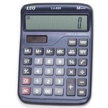 Calculadora Luo LU-628 com 12 Digitos - Azul Escuro