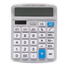 Calculadora Luo LU-629 com 12 Digitos - Prata