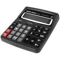 Calculadora Megastar DS291 com 12 Digitos - Preta/Cinza