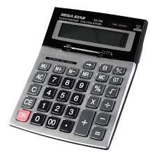 Calculadora Megastar DS-296 12 Digitos - Preta/Cinza